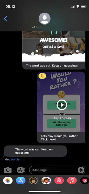 imessage app screenshot