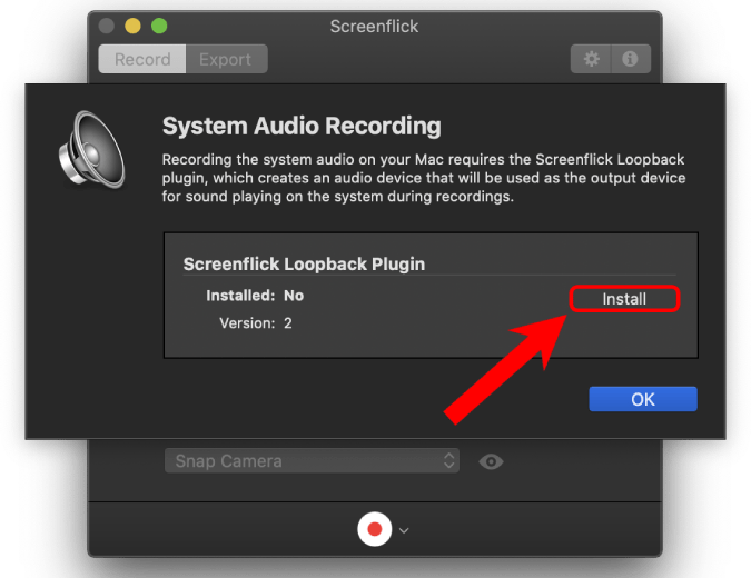 install screen audio recording