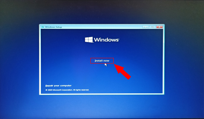 install windows home page