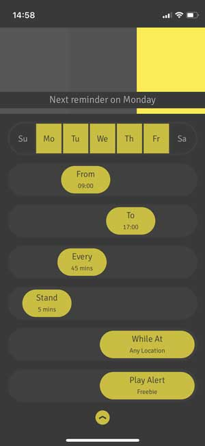 stand up reminder app for ios