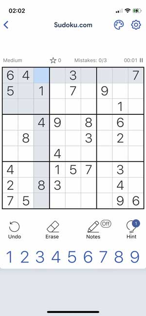 sudoku game for iphone