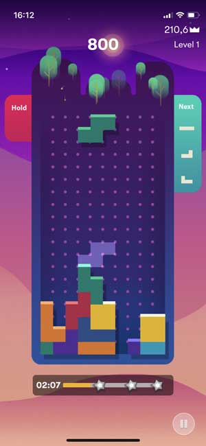 tetris game on iphone