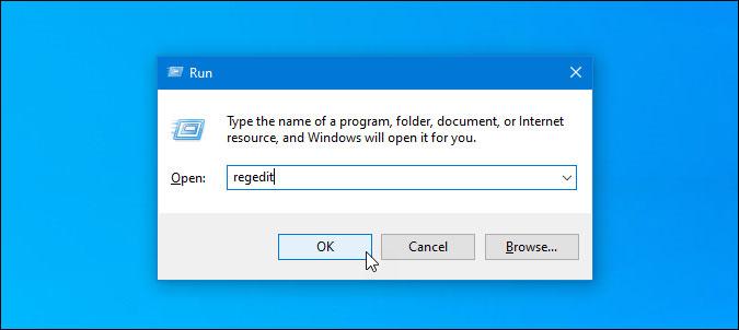open registry editor on windows 10