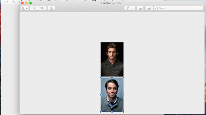 adjust images in preview on macos