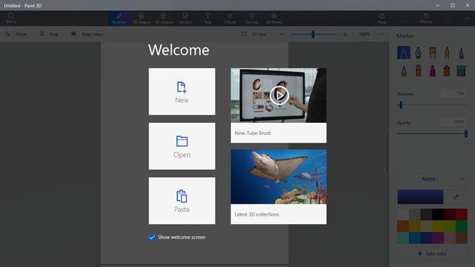 open image in paint 3d on windows 10