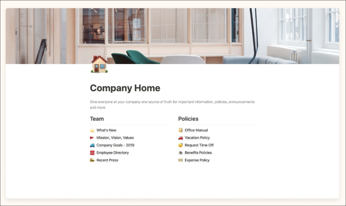 company home notion template