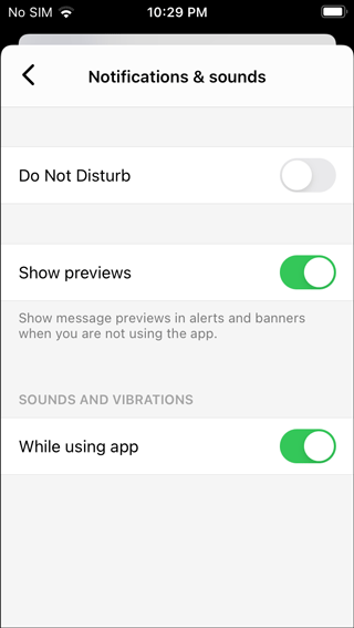 turn on messenger notifications and sounds ios