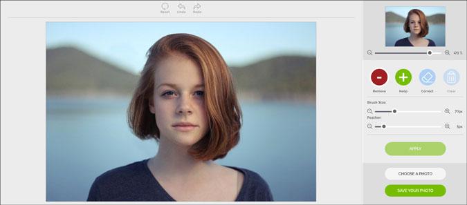 remove image background using inpixio