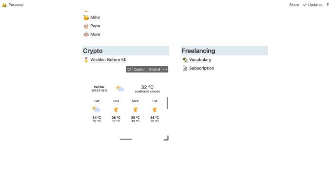 notion weather widget
