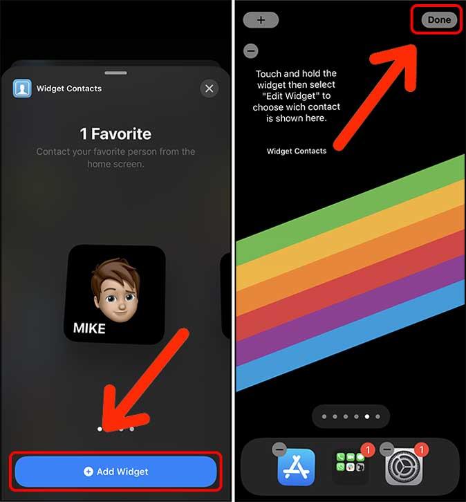 add widget to home screen