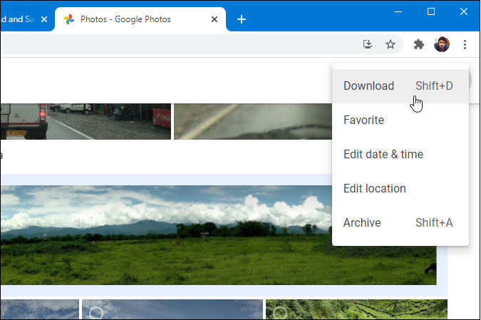 download google photos to your computer