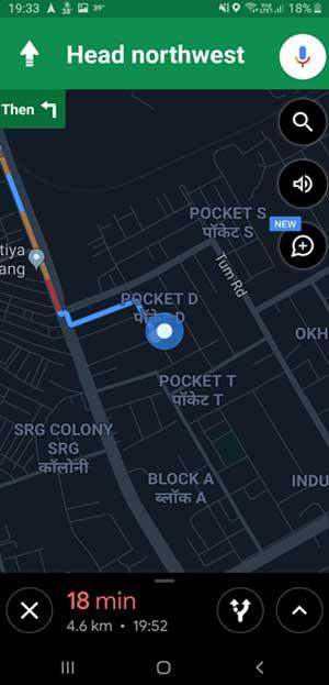 Google Maps with Dark Mode