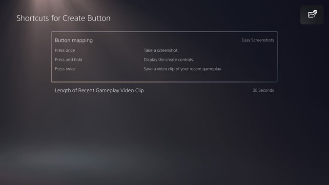 Easy Screenshots in Settings for PS5 Tips and tricks