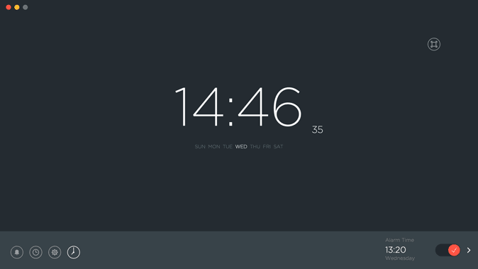 sleep alarm clock- minimal alarm app for mac