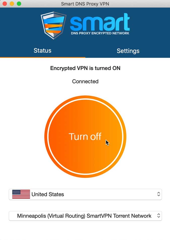 vpn connected to us server