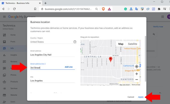 Add business info to Google Maps