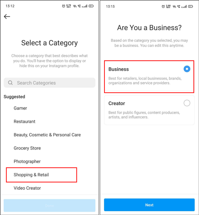 How to switch to business account on Instagram