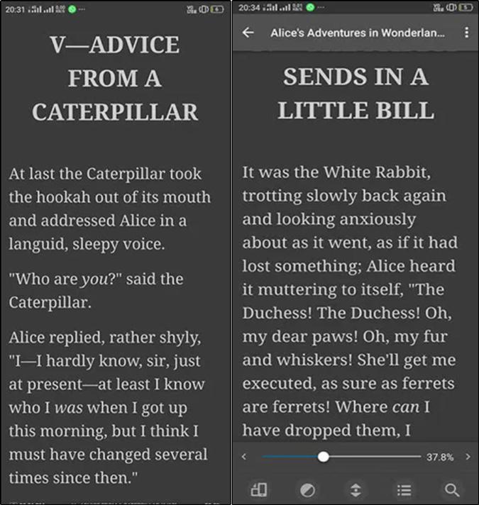 Moon+ Reader vocabulary builder app