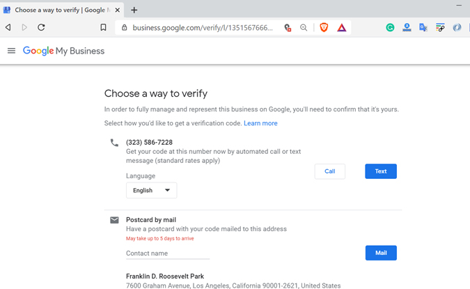 Verify Business location on Google Maps