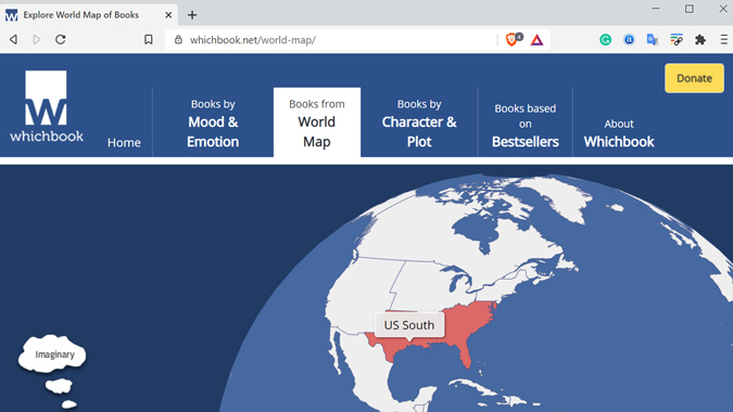 Book recommendation site by region