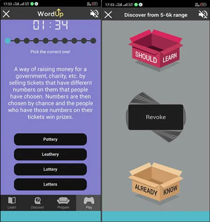 WordUp Vocabulary building app