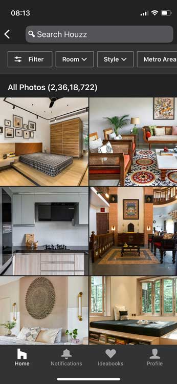 houzz- biggest catalog of interior design photos