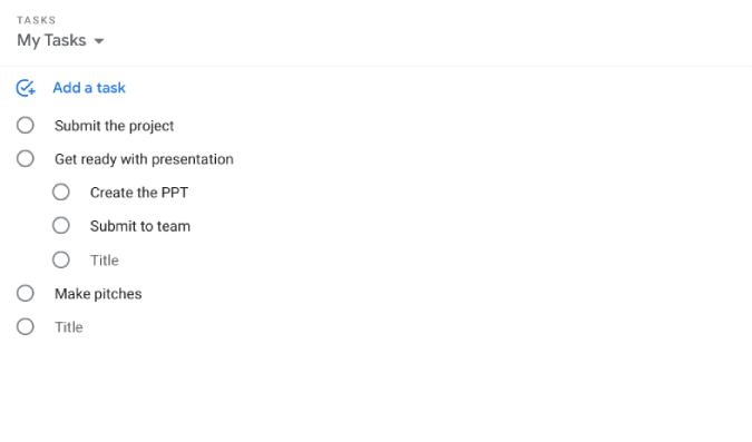 Google Tasks website link