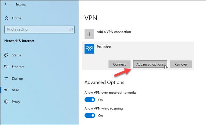 open vpn profile settings on windows 10