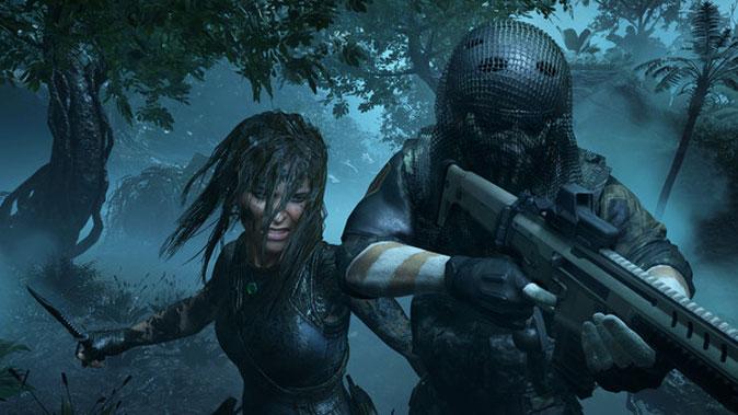 Lara Croft shadow of the tomb raider gameplay on macbook
