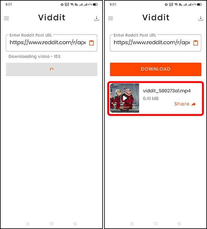 save the reddit video with viddit