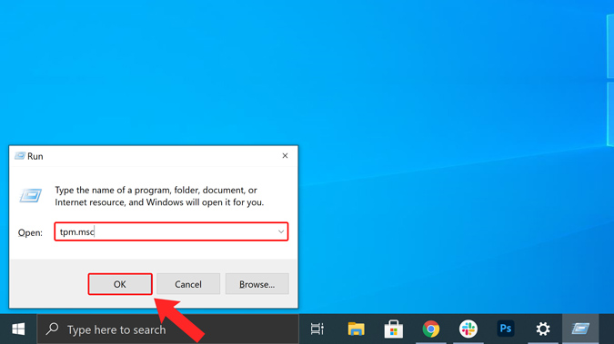 tpm.msc on run menu How to Install TPM 2.0 Module on Windows PC for Windows 11