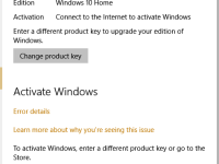 Windows 10 Activation Error code: 0xC004C003