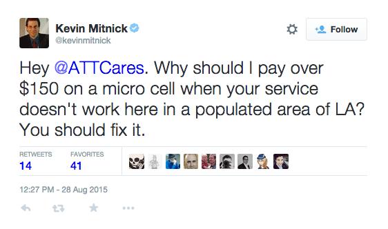 Kevin Mitnick Tweet