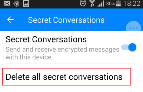 delete secret conversation