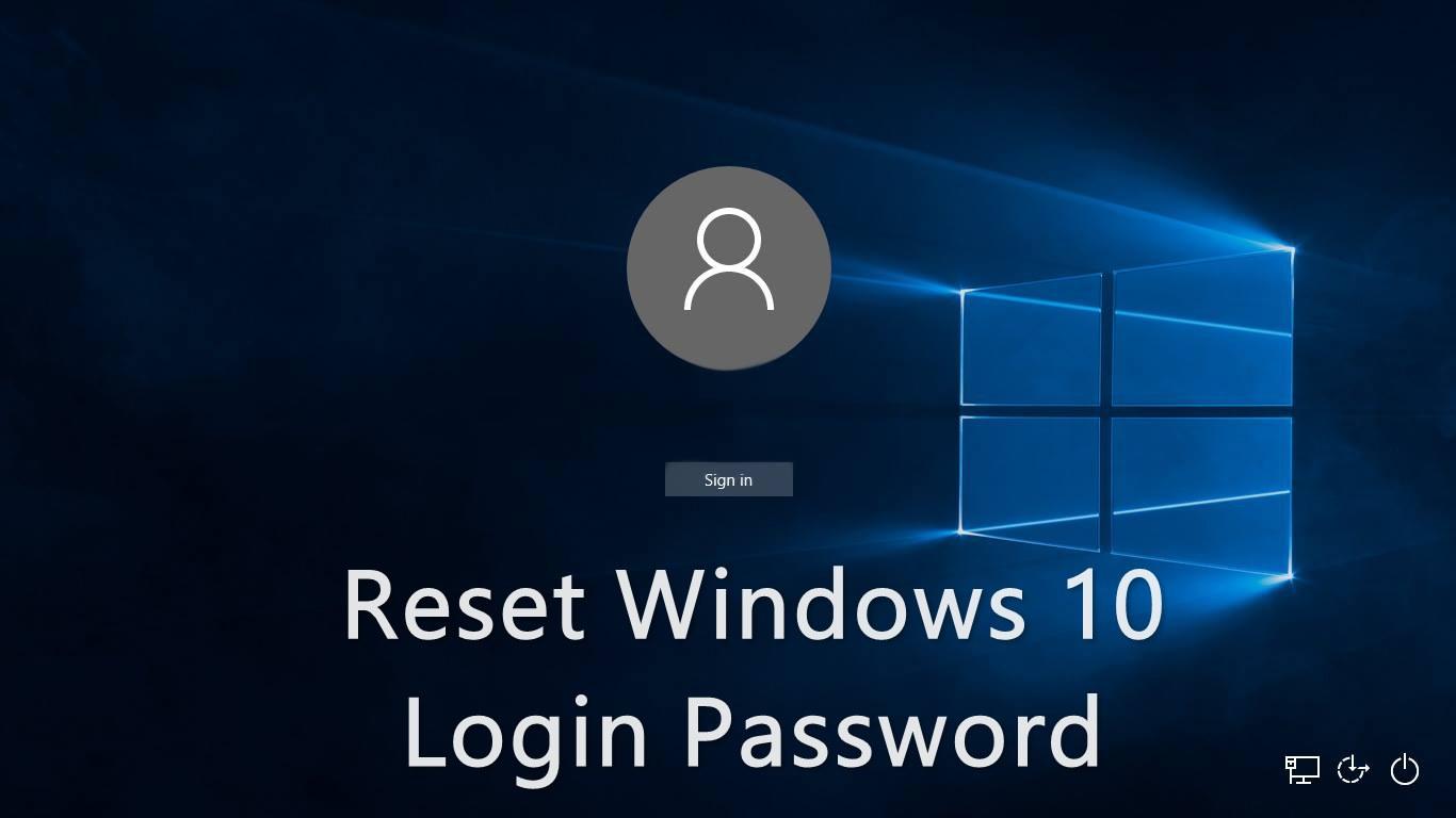 reset Windows password using CMD