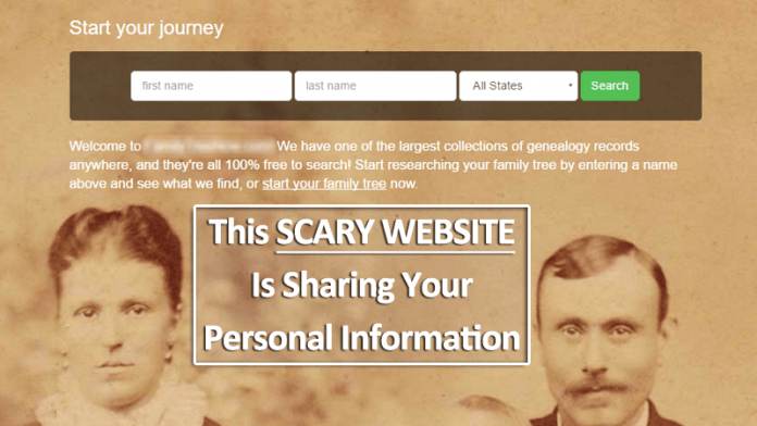 Scary Website Is Sharing Your Personal Information