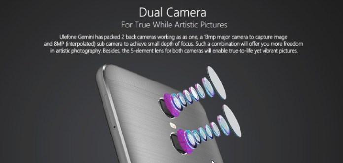 Ulefone Gemini camera
