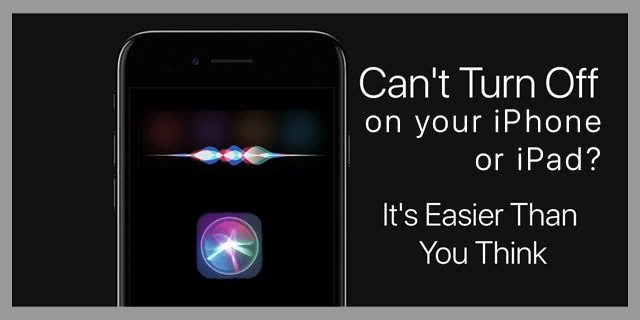 Learn How To Turn Off Siri On Your Apple IPhone Or IPad ...