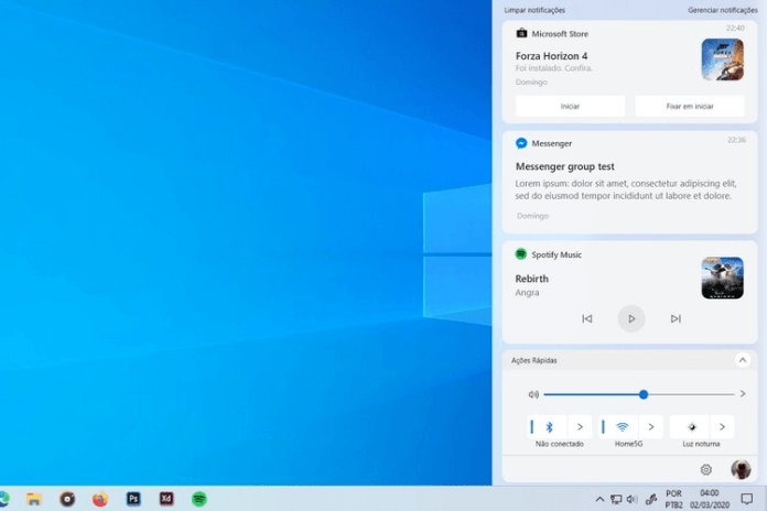 Windows Redesigned Action Center