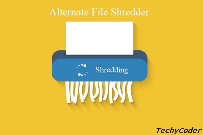 Alternate File Shredder, how to permanently delete files, securely delete files, permanent file delete