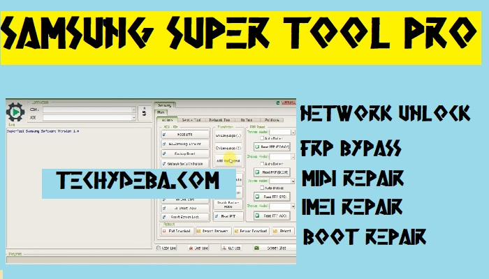 Blutooth, Fix WIFI, Reboot Tool, Remove Frp Lock, Repair Imei No., Repair Network, samsung super tool, samsung Tool