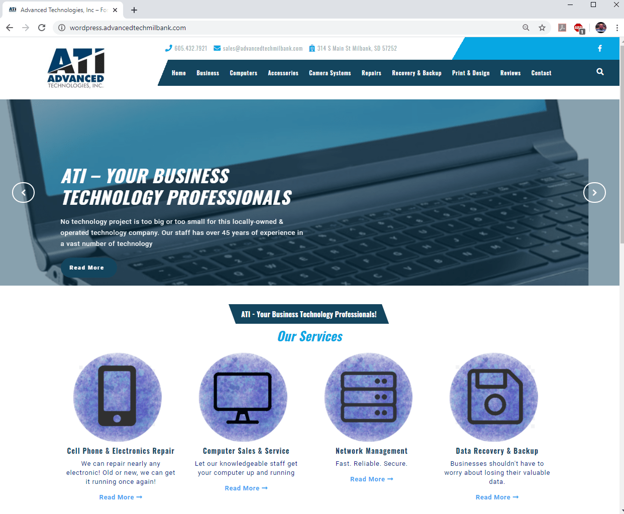 Advanced Technologies, Inc website build