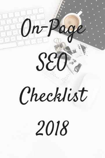 On-page SEO checklist 2018