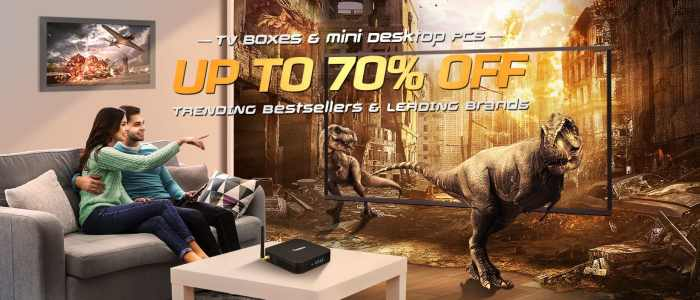 Get up to 70% off TV Boxes in the Gearbest TV Box Sales