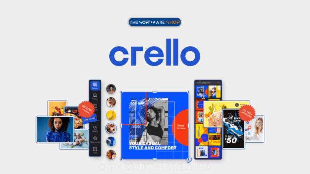 Crello is one of the best graphic design tool for novice people