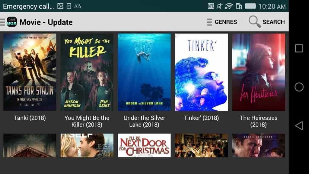 One Box HD is one of the best free movies apps for android and iPhone
