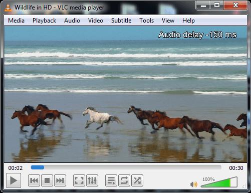 "VLC keyboard shortcut: ""J/K"" to increase/decrease audio delay"