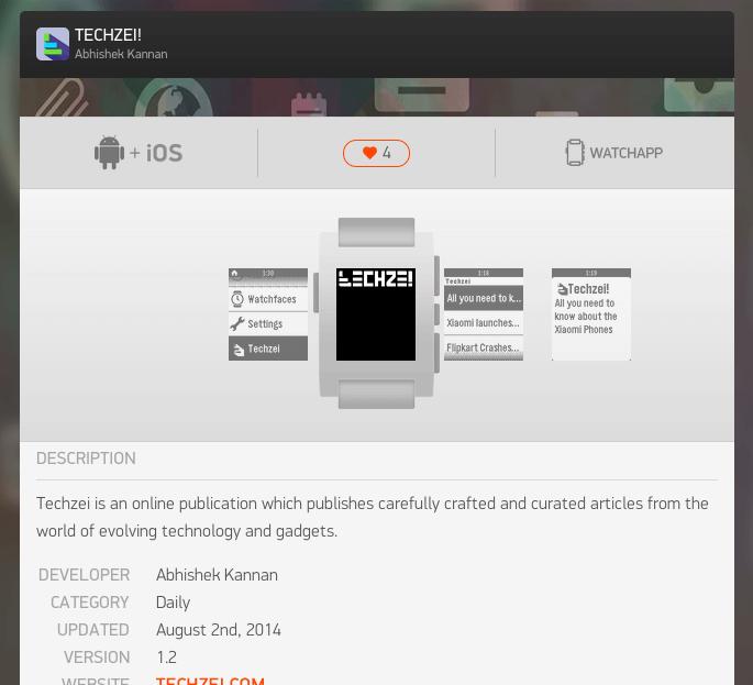 pebble app for techzei