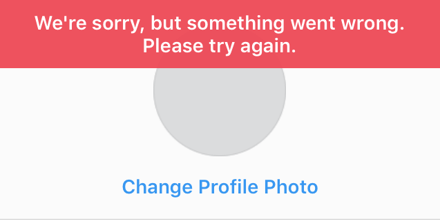 fix something went wrong insta
