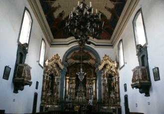 Aleijadinho (1738-1814) Vista geral, nave e capela mor da Igreja Nossa Senhora do Monte Carmo de Sabará, 1763 (pedra fundamental). Fotografia Percival Tirapelli. (Acervo Digital Barroco Memória Viva/ UNESP)